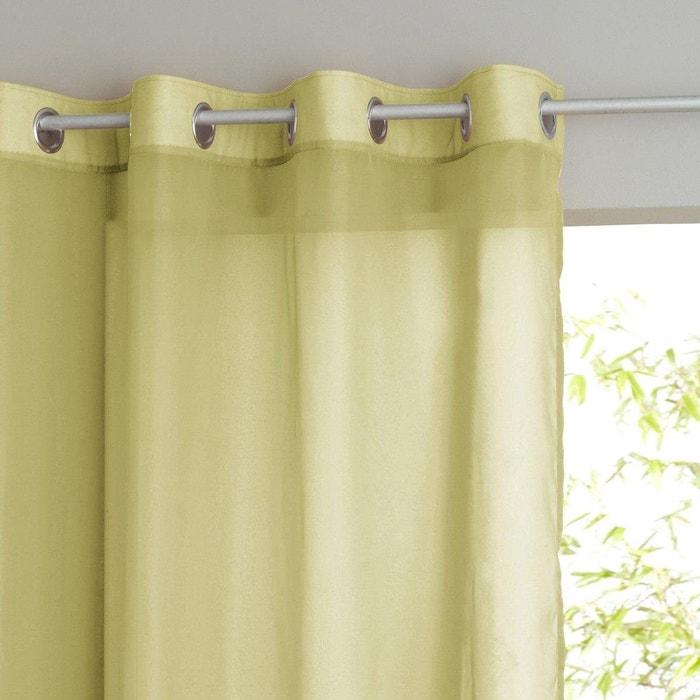 voilage uni bas ourl limpo vert la redoute interieurs la redoute. Black Bedroom Furniture Sets. Home Design Ideas