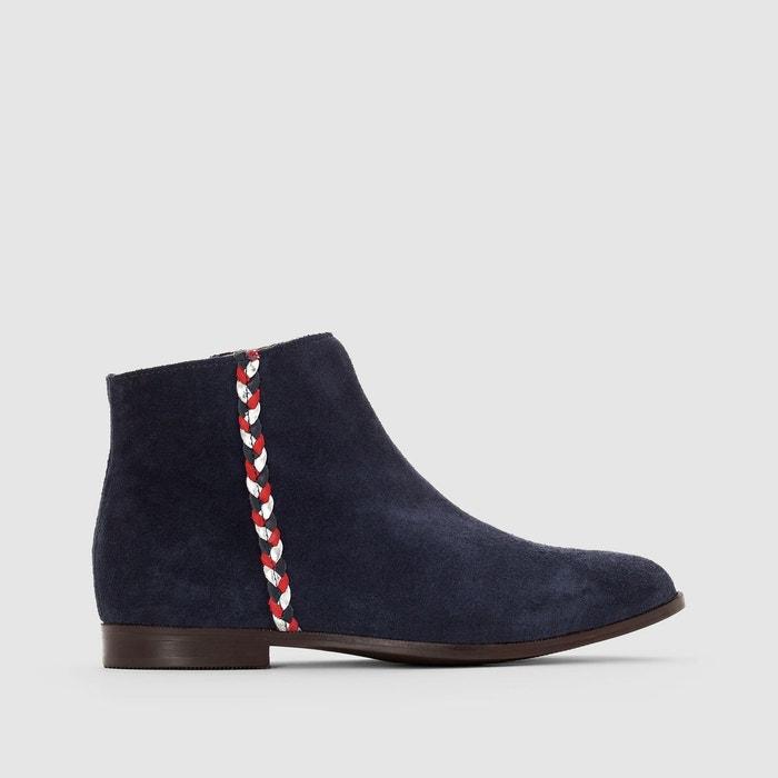 Boots détail tresse - La Redoute Collections - Bleu MarineLa Redoute Collections Lm97x