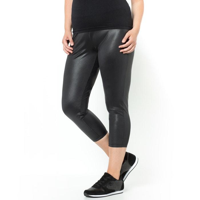 Imagen de Leggings cortos negros aspecto lacado CASTALUNA