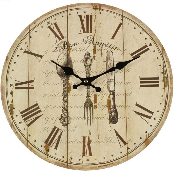 horloge ancienne murale bon appetit 34cm decoration d autrefois la redoute. Black Bedroom Furniture Sets. Home Design Ideas