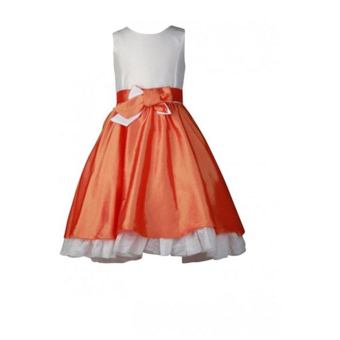 Robe fille de c r monie noeuds sur jupe couleur bicolore for Nettoyage de robe de mariage milwaukee