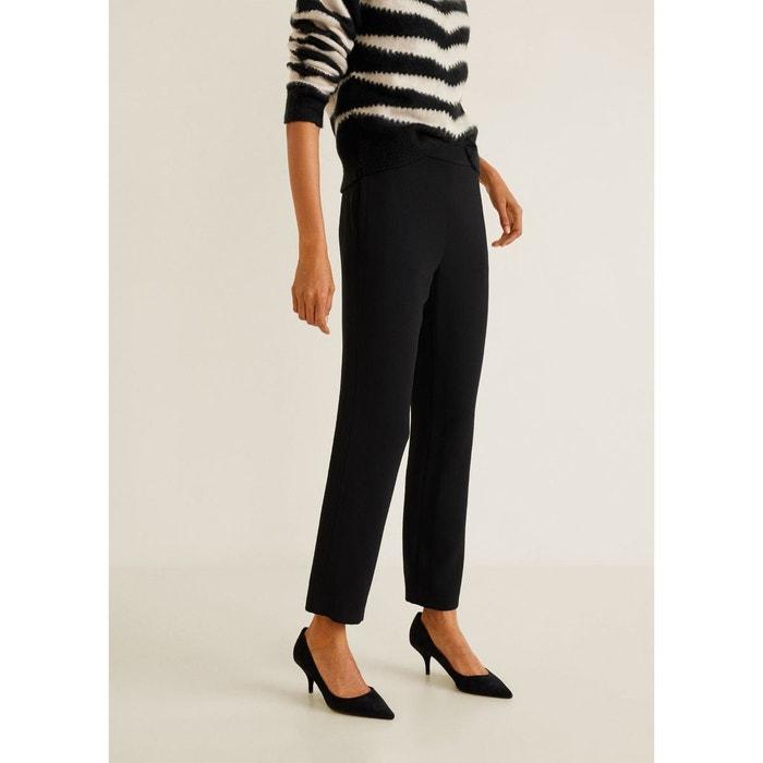 Haute Noir MangoLa Pantalon Droit Taille Redoute cT1FuJ3lK