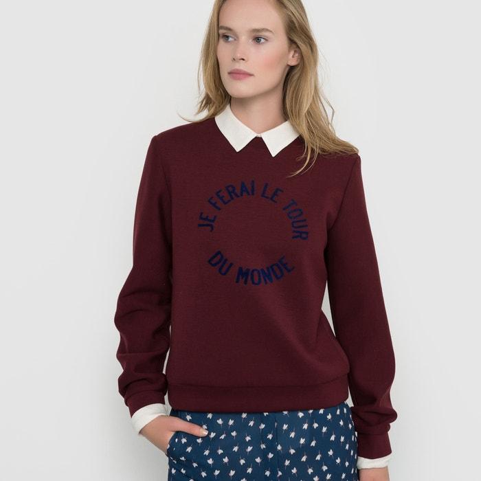 afbeelding Sweater met tekst La Redoute Collections