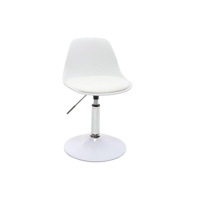 chaise de bureau design enfant steevy blanc miliboo la redoute. Black Bedroom Furniture Sets. Home Design Ideas