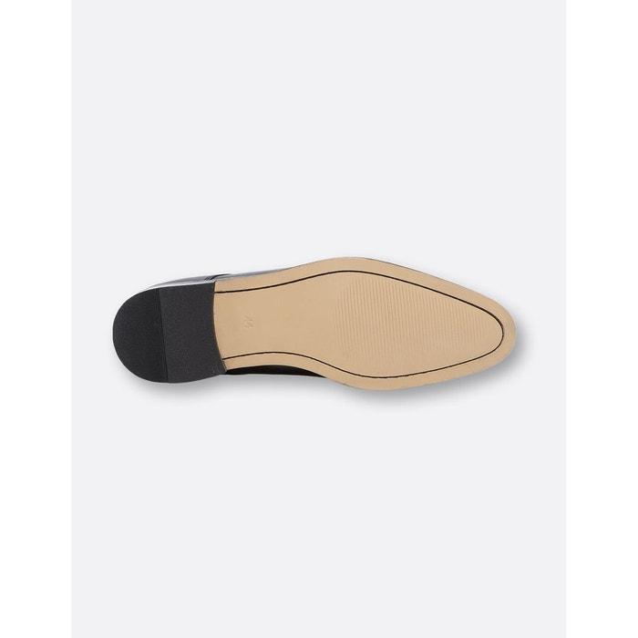 Chaussures de costume derby cuir noires noir Brice