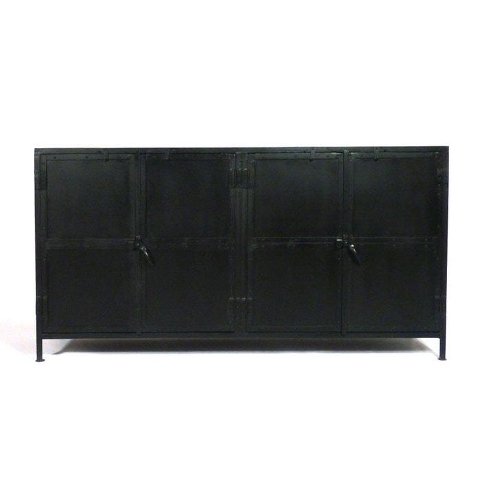 enfilade industrielle 4 portes plateau bois rai4pf 1801 4 marron made in meubles la redoute. Black Bedroom Furniture Sets. Home Design Ideas