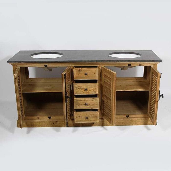 Meuble salle de bain bois massif naturel amazing meuble for Meuble salle de bain bois massif naturel