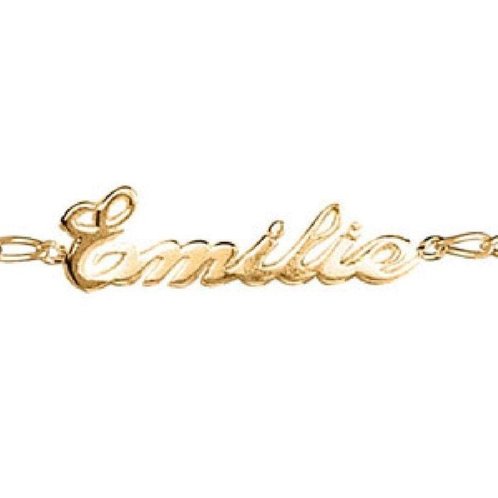 Bracelet longueur réglable: 17 à 18,5 cm maille 1 + 1 ciselée anglaise plaqué or 750 couleur unique So Chic Bijoux | La Redoute