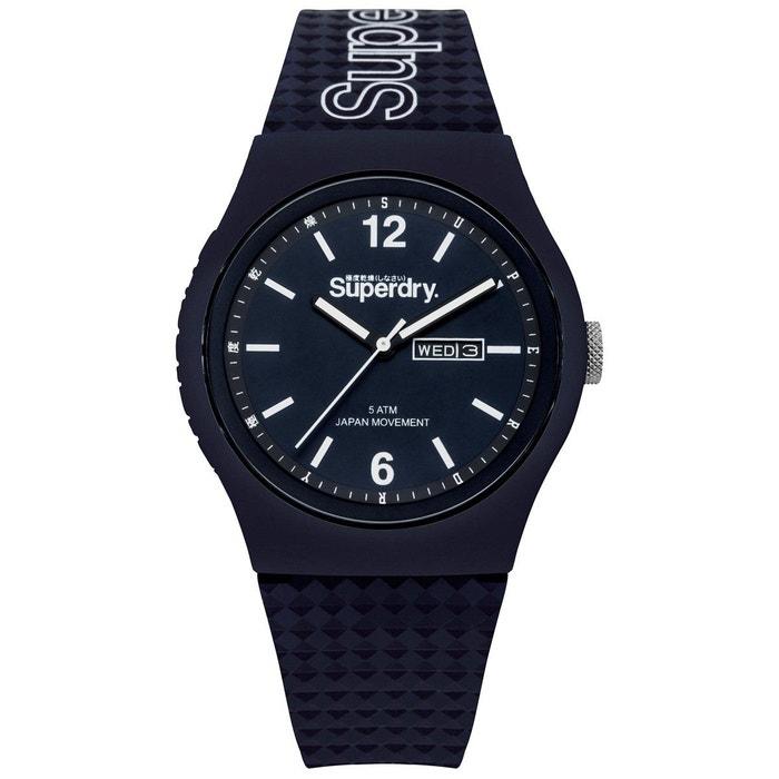 Montre homme analogique bracelet silicone boitier 43 mm urban Superdry   La Redoute Peu Coûteux Livraison Gratuite Prix Incroyable 9t8X0c