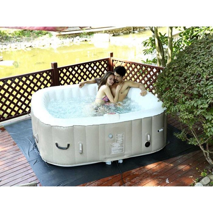 spa gonflable monaco en pvc 6 places taupe cre couleur. Black Bedroom Furniture Sets. Home Design Ideas
