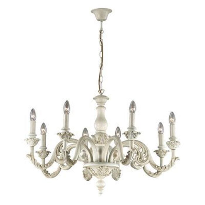 lustre giglio blanc 8x40w ideal lux 088587 boutica design la redoute. Black Bedroom Furniture Sets. Home Design Ideas