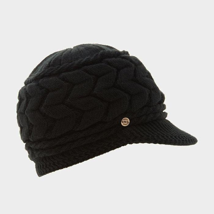 3f257e823b6a6 Bonnet en maille avec visière plate - farren noir tissu Dune London   La  Redoute