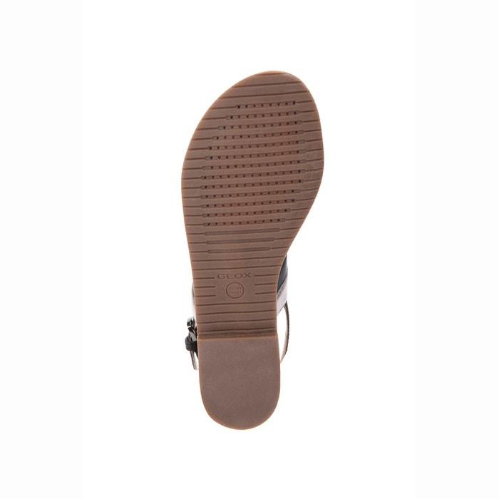 Sandales cuir d sozy f noir Geox