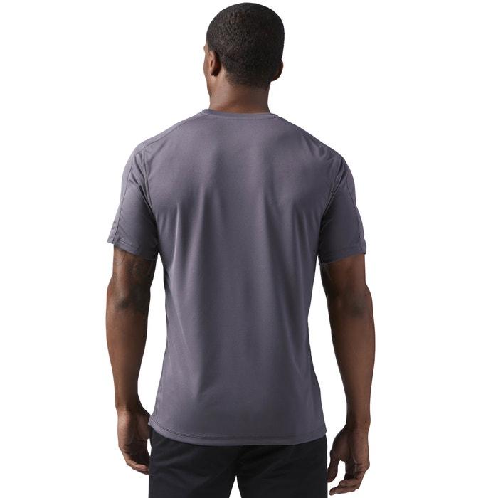 manga delante de REEBOK con estampado redondo y cuello Camiseta corta xSAPa