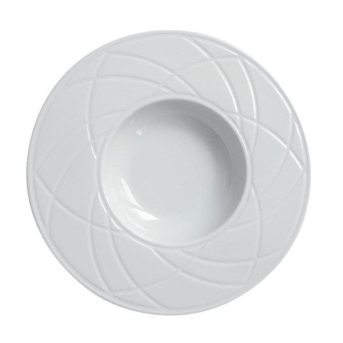 set de 4 assiettes risotto clair de lune grav diamant blanc haviland la redoute. Black Bedroom Furniture Sets. Home Design Ideas