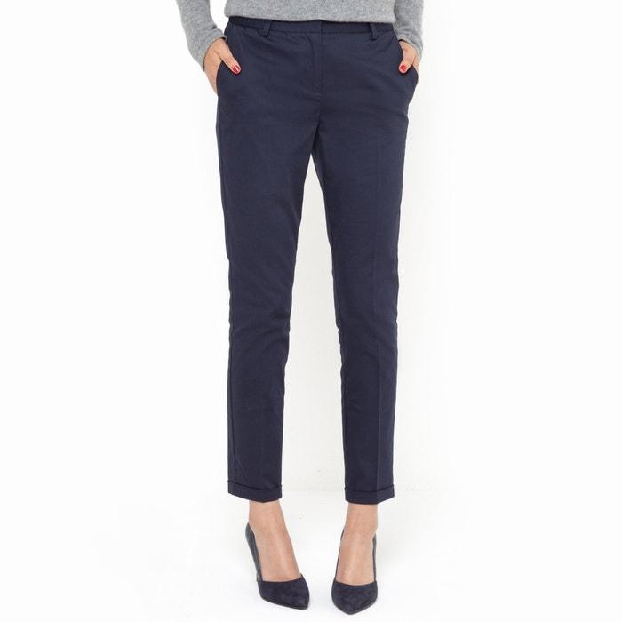 Image 7/8 Length Stretch Cotton Trousers R essentiel