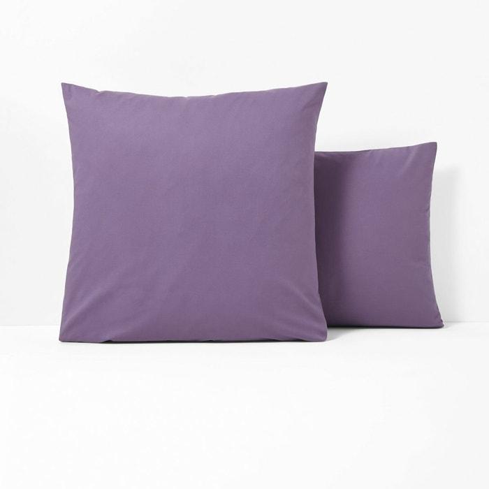 taie d 39 oreiller polycoton sans volant violet quetsche scenario la redoute. Black Bedroom Furniture Sets. Home Design Ideas