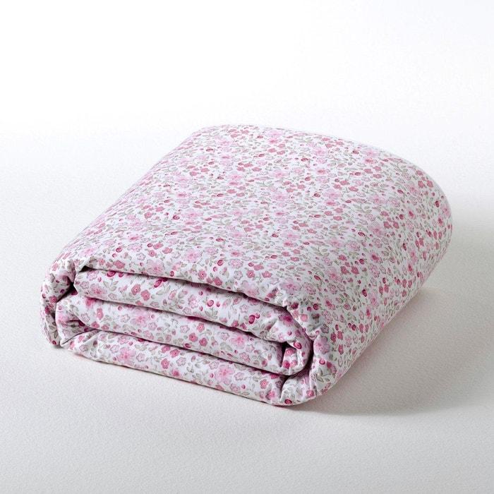 Housse de couette fleurie pur coton lit b b fleu la - Housse de couette bebe 80x120 ...
