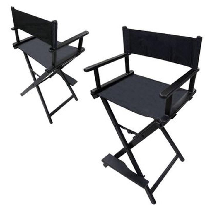 chaise haute maquilleur alu noire cosmetics united la redoute. Black Bedroom Furniture Sets. Home Design Ideas