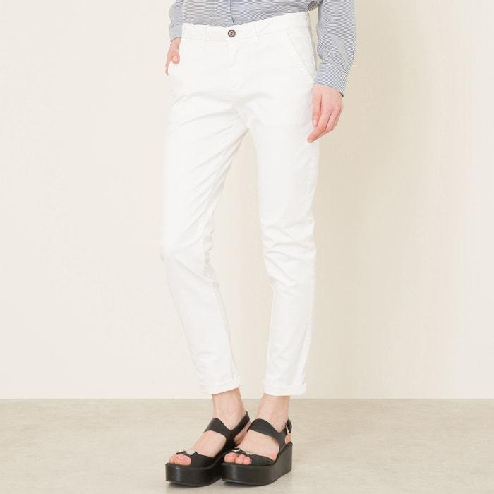 Pantalon chino sandy craie Reiko   La Redoute 7b9754dd342e