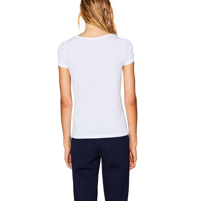 redondo cuello Camiseta y con ESPRIT manga lisa corta ZFIqpU