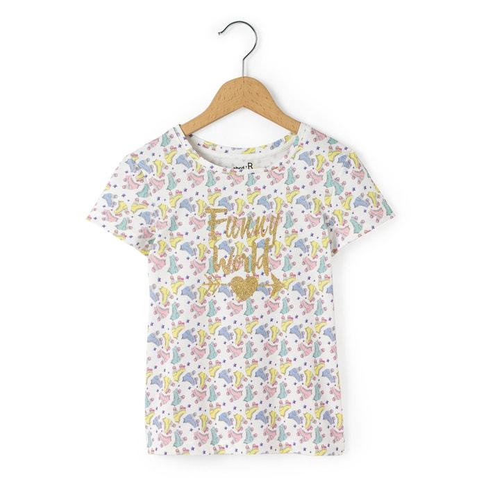 afbeelding T-shirt met roller print La Redoute Collections