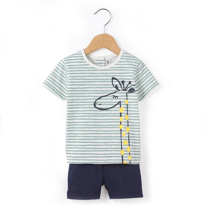 Imagen de Conjunto camiseta y short 1 mes-3 años La Redoute Collections