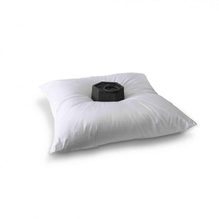 lot 2 oreillers grand confort 60x60 blanc bleu calin la redoute. Black Bedroom Furniture Sets. Home Design Ideas