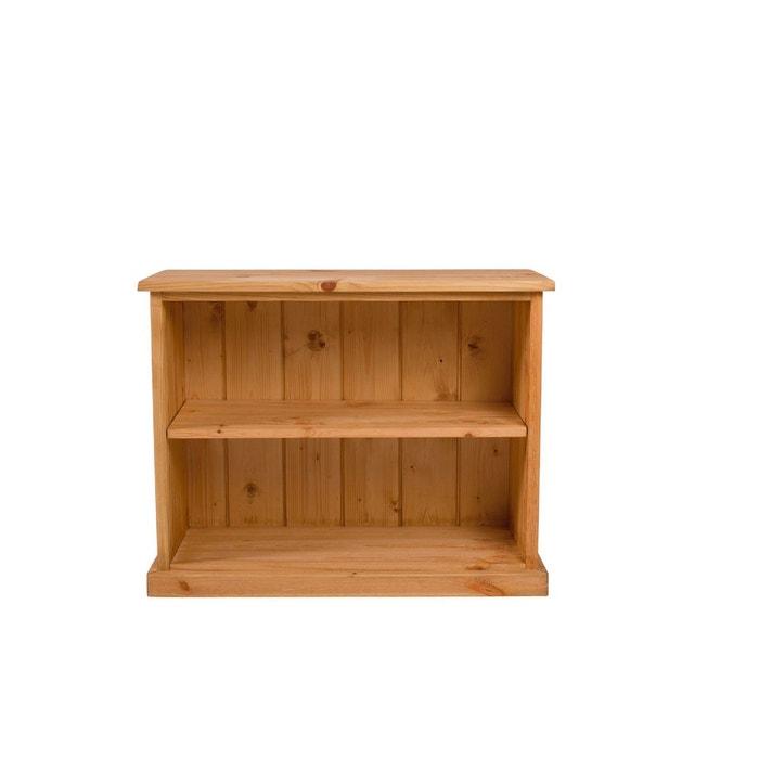 biblioth que en pin massif 1 tag re aulp miel couleurs des alpes la redoute. Black Bedroom Furniture Sets. Home Design Ideas