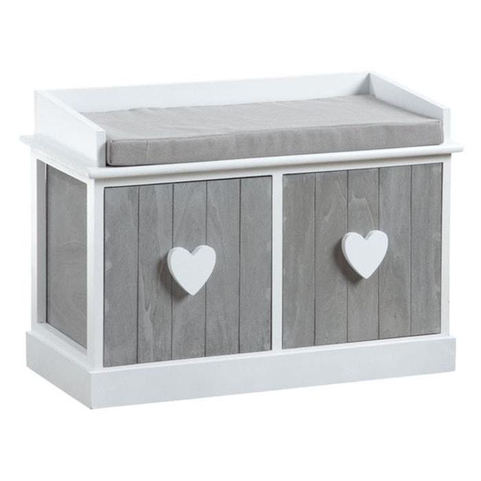 banc avec rangements blanc aubry gaspard la redoute. Black Bedroom Furniture Sets. Home Design Ideas