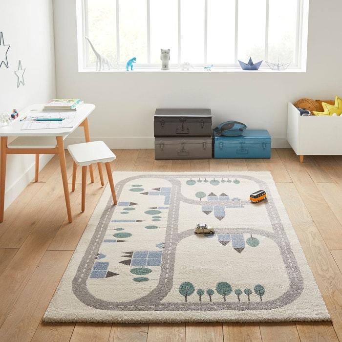 tapis enfant korting motif circuit blanc bleu la redoute. Black Bedroom Furniture Sets. Home Design Ideas