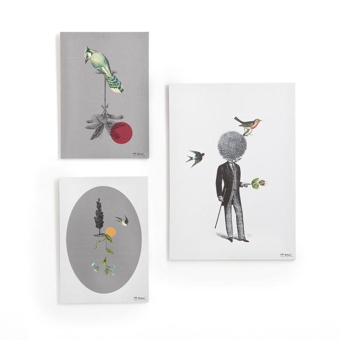 cuadros lote de 3 negro gris blanco sam baron x la. Black Bedroom Furniture Sets. Home Design Ideas