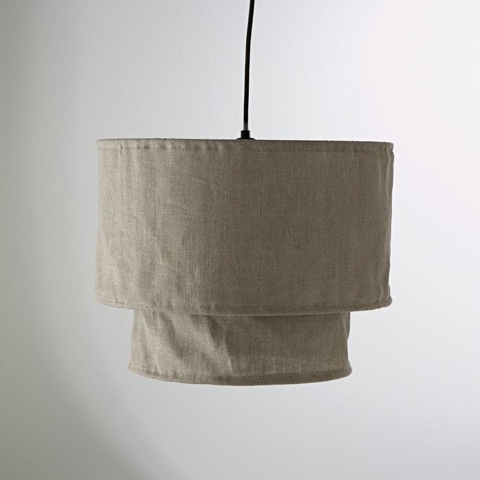 suspension double abat jour en lin thade la redoute interieurs lin naturel la redoute. Black Bedroom Furniture Sets. Home Design Ideas