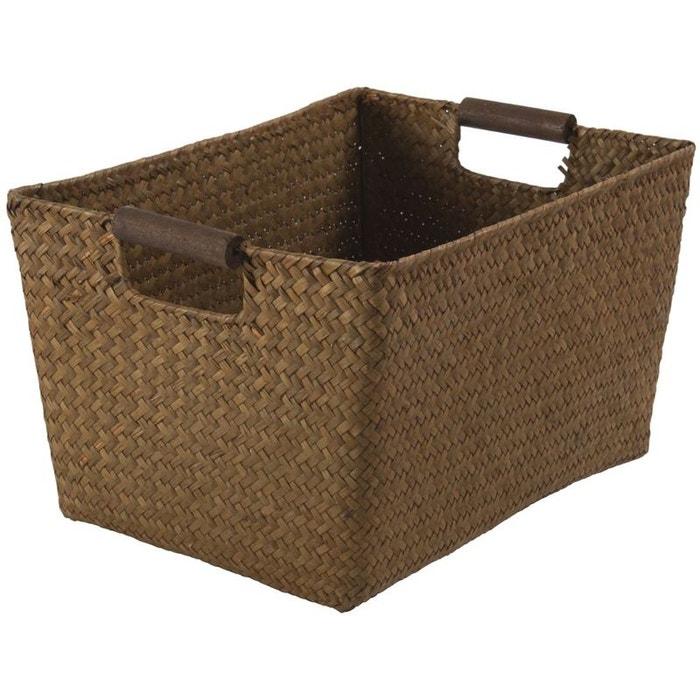 panier sampan caramel caramel compactor la redoute. Black Bedroom Furniture Sets. Home Design Ideas