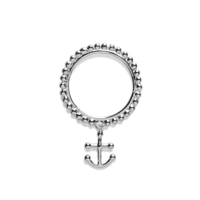 Bague en argent amarée ligne de perles et ancre argent Agnes De Verneuil | La Redoute Dernières Collections En Ligne Krplf