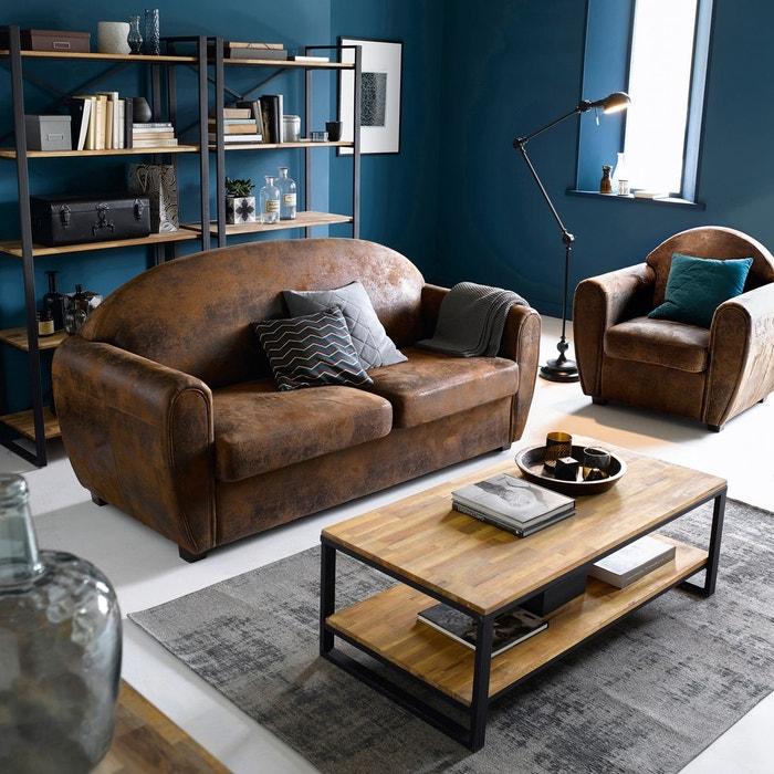 fauteuil club microfibre effet vieilli winconsin la. Black Bedroom Furniture Sets. Home Design Ideas