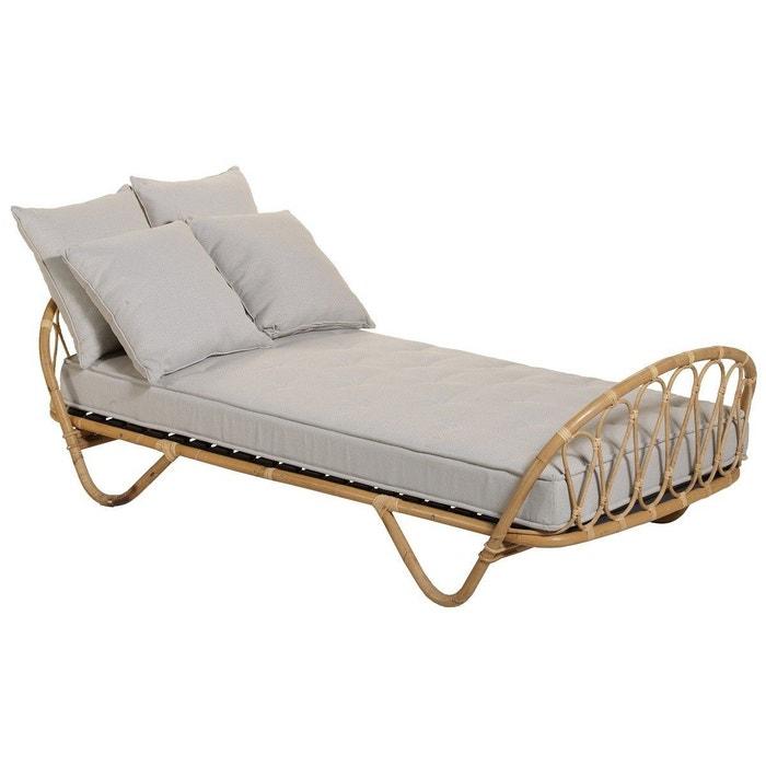 lit en rotin 90x190 corbeille beige kok la redoute. Black Bedroom Furniture Sets. Home Design Ideas