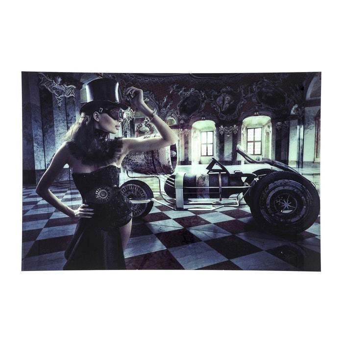 Tableau en verre circus queen 100x150cm kare design noir for Tableau en verre imprime