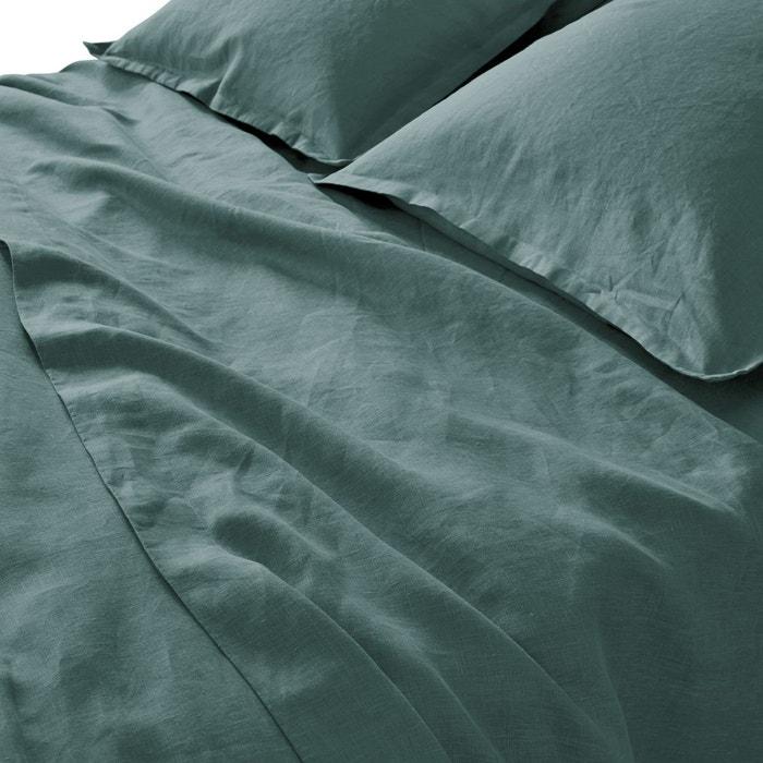 drap en lin lave la redoute interieurs la redoute. Black Bedroom Furniture Sets. Home Design Ideas