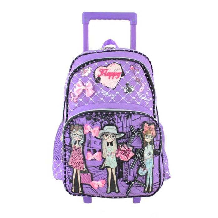 Vente Pas Cher À La Mode Amazone Discount Sac à dos à roulettes 50 cm girly violet violet Madisson | La Redoute Prix Pas Cher Livraison Gratuite 041cy2fBP