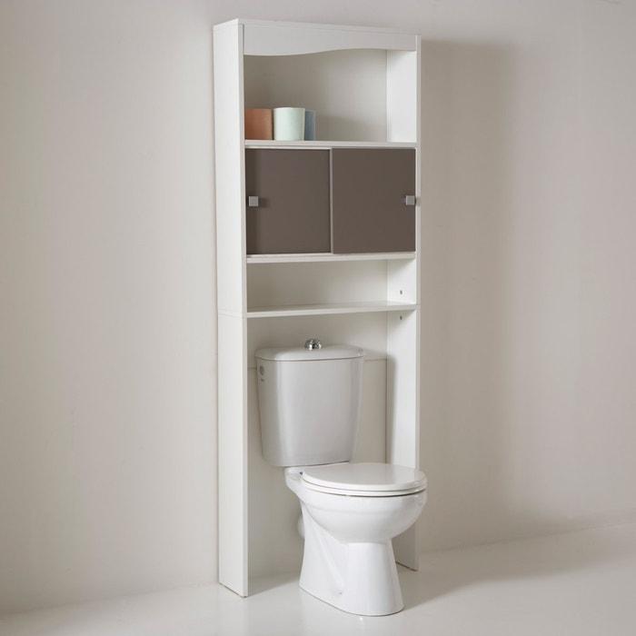 Estanter a sobre wc o lavadora roselba blanco marr n claro for Estanteria sobre wc