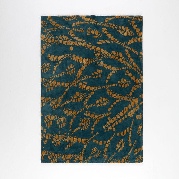 tapis tuft imprim aron bleu canard la redoute. Black Bedroom Furniture Sets. Home Design Ideas