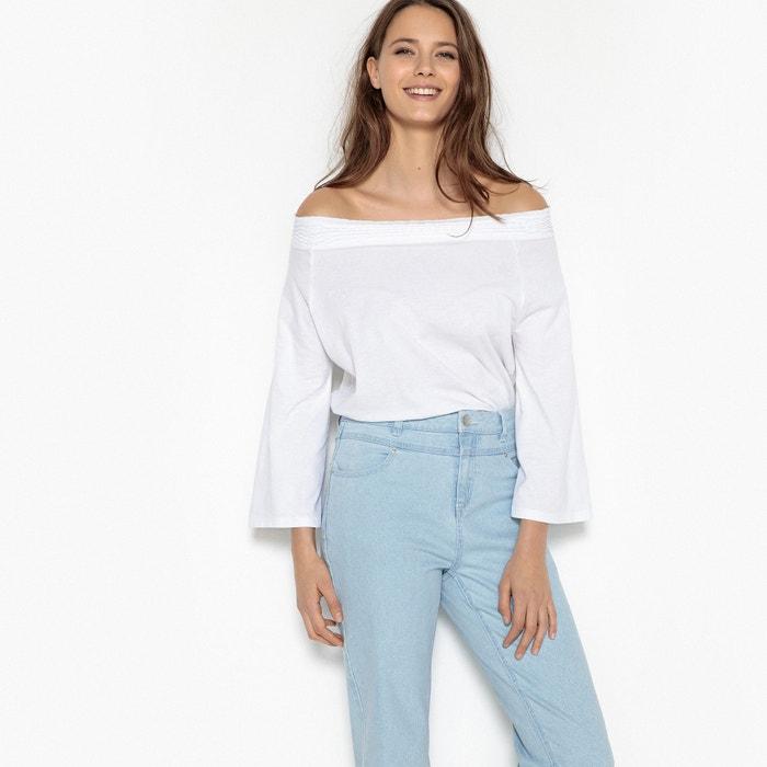 Imagen de Camiseta con smock, hombros descubiertos MADEMOISELLE R