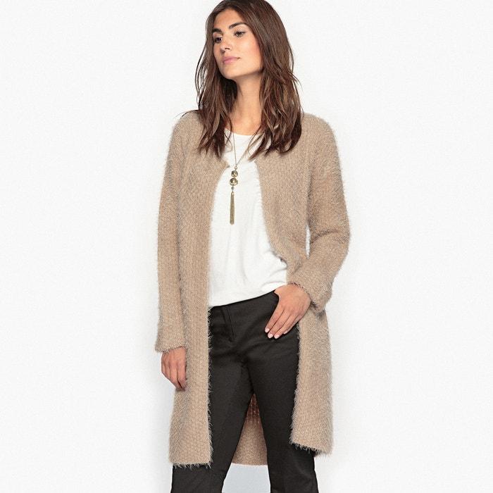 Image Longue veste tricotée, effet poilu ANNE WEYBURN