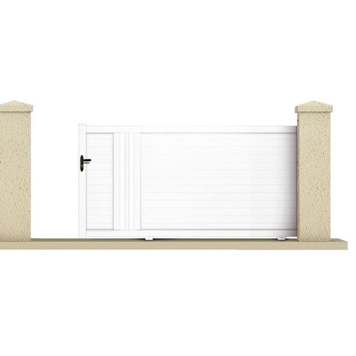 portail coulissant hyperion m pvc coloris blanc couleur unique habitat et jardin. Black Bedroom Furniture Sets. Home Design Ideas