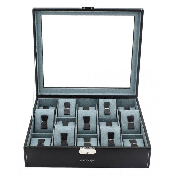 Ecrin 15 montres, bond noir vitré bleu Friedrich 23 | La Redoute