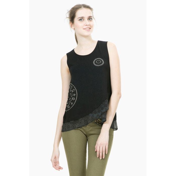 Image TS Grecia Sleeveless Draped T-Shirt DESIGUAL