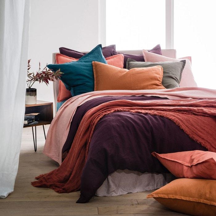 housse de couette en pur lin lav la redoute interieurs. Black Bedroom Furniture Sets. Home Design Ideas