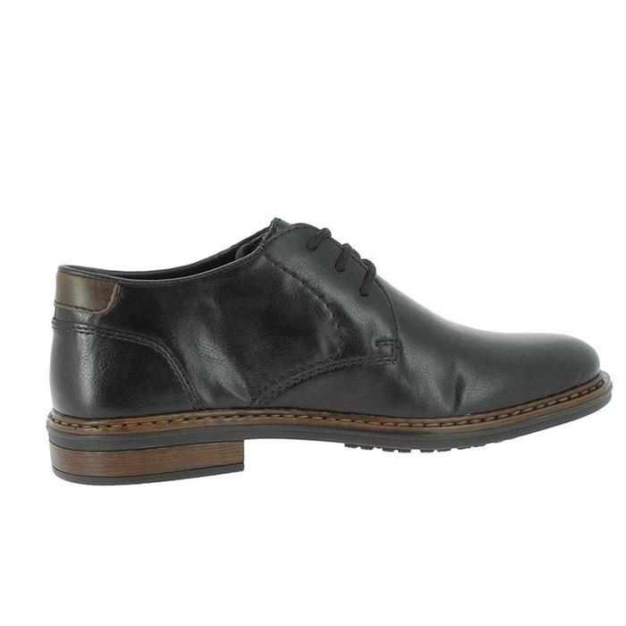 c4e48af23a32b Chaussures à lacets textile noir Rieker   La Redoute