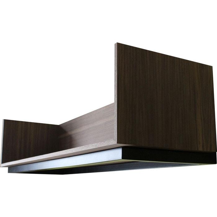 etag re murale design acier et noyer vaneau noir alex de rouvray design la redoute. Black Bedroom Furniture Sets. Home Design Ideas